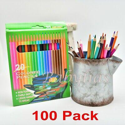 100 Colored Pencils Kids Art Supplies Coloring Books Set Non-Toxic Wholesale (Wholesale Art Supplies)