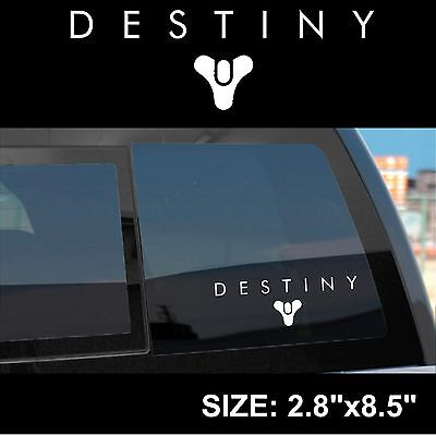 Destiny Game Logo Sticker Decal (Stacked) BUNGIE, PLAYSTATION 4, XBOX ONE, PC