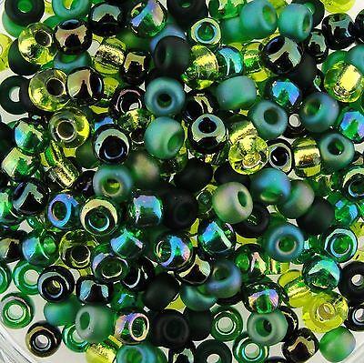 Miyuki Round Seed Beads Rocaille's Size 6/0 Evergreen Mix 20g-Tube (Evergreen Mix)