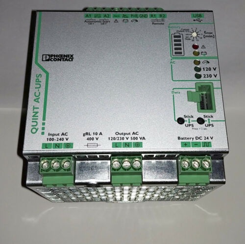 Phoenix Contact QUINT-UPS/1AC/1AC/500VA DIN RAIL AC UPS #2320270