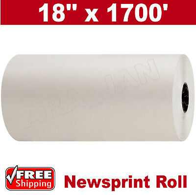 18 X 1700 30 Newsprint Shipping Wrapping Stuffing Packaging Paper Roll New