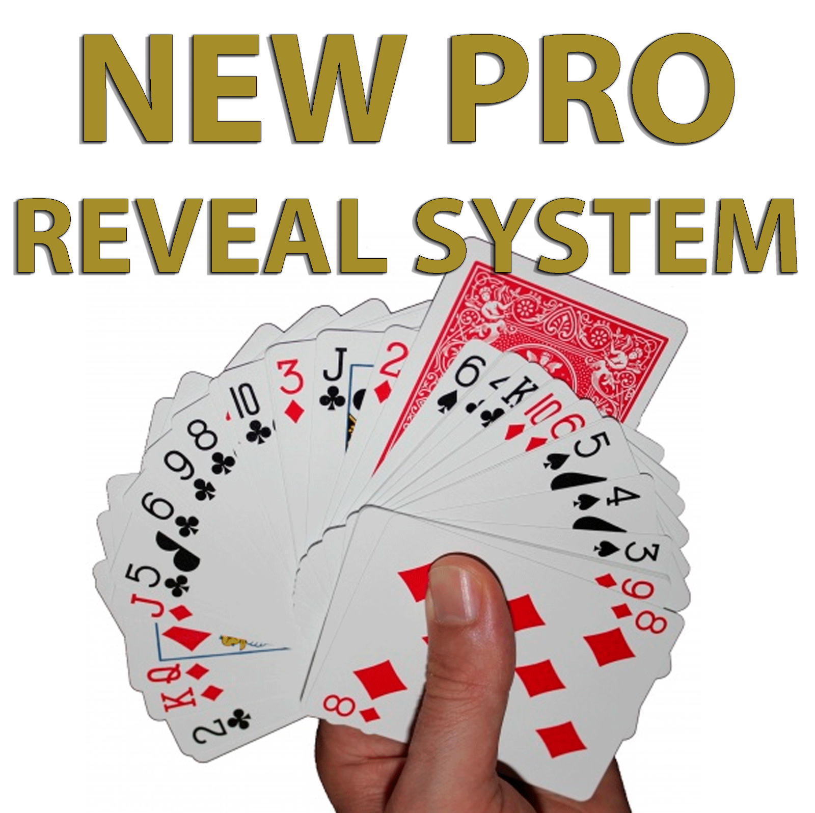 invisible deck new pro version red bicycle playing cards