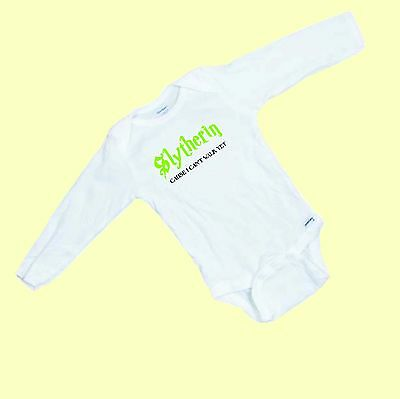 Slytherin Baby Clothes (Slytherin  Cause I Can't walk yet  Harry Potter   LONG SLEEVE Romper / Onesie)