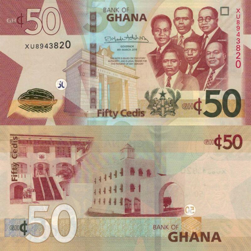 Ghana 50 Cedis (04.03.2019) - Big Six/Gov