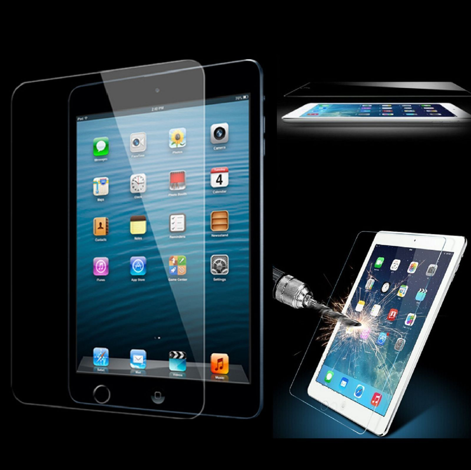 iPad Tempered Glass Screen Protector for New iPad 2017 2018 9.7  Cover 9H 0.33 m