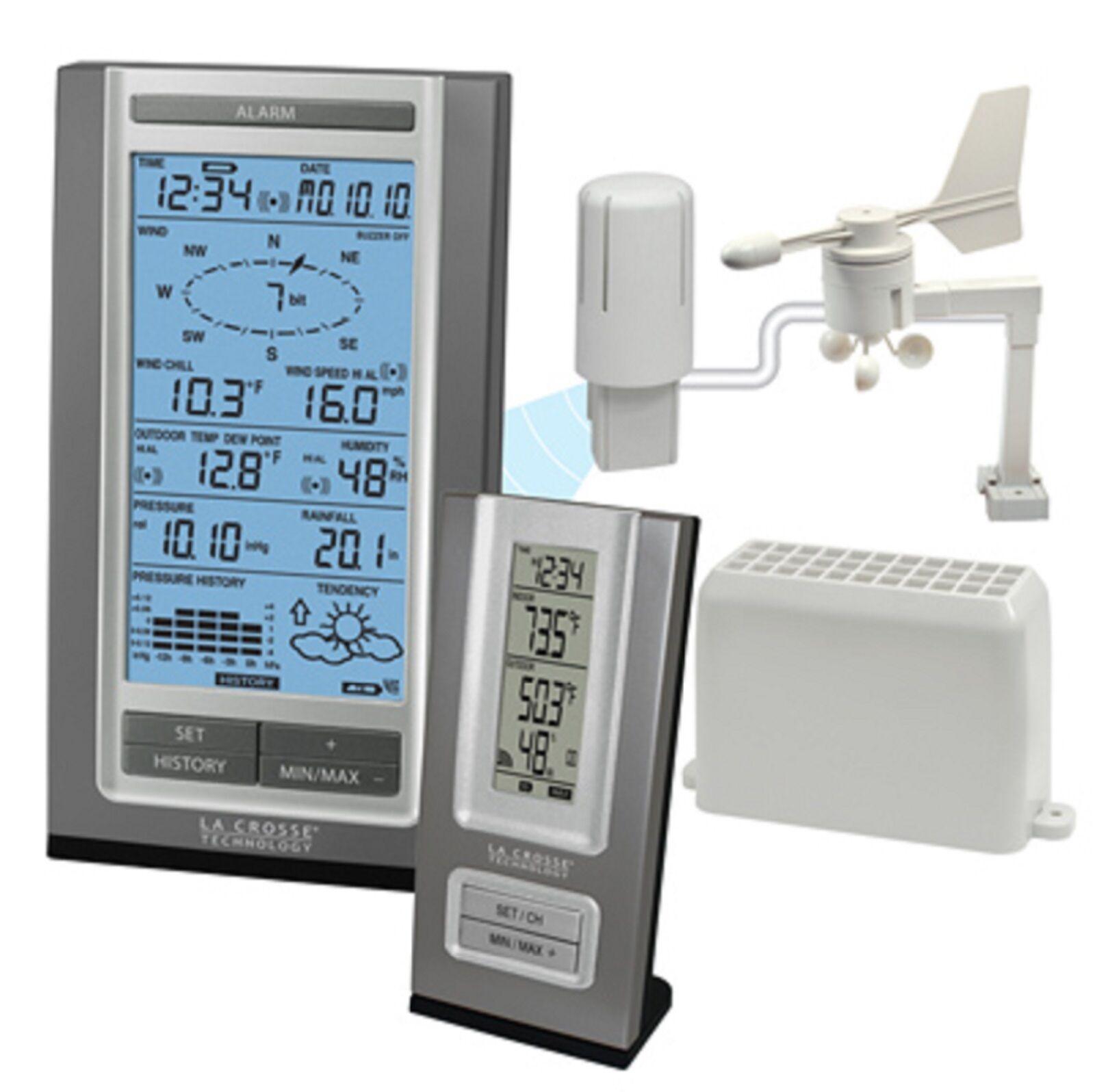 WS-1515U-IT La Crosse Technology Professional Weather Station Wind Rain CLOSEOUT