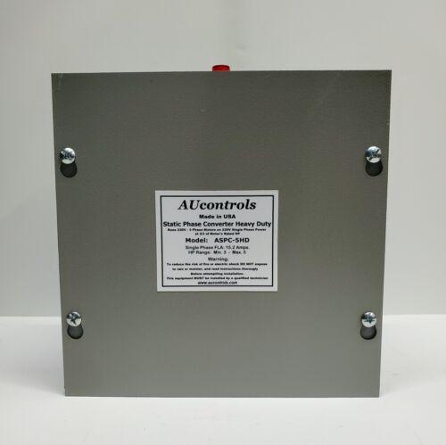 Static Phase Converter, Runs 3 to 5 HP 3-Phase 230V Motors w/single phase power.