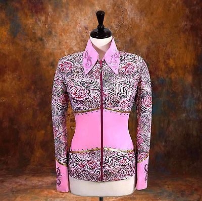 2X-LARGE  Showmanship Pleasure Horsemanship Show Jacket Shirt Rodeo Queen Rail