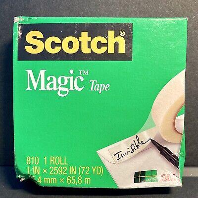 New Damaged Box Scotch 3m Magic Tape 1 X 2592 Inches 3 Inch Core Boxed 810