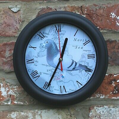 RACING PIGEON  WALL CLOCK, PERFECT PIGEON FANCIERS GIFT