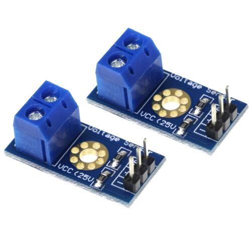 2 Pack Voltage Sensor DC 0V - 25V for Arduino