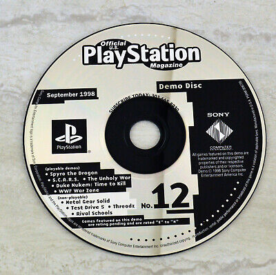 Official US Playstation Magazine: Demo Disc No. 12 PS1 *September 1998* Sony
