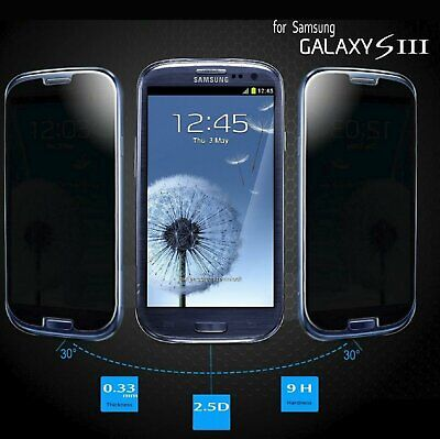 Tempered Glass Privacy Film Anti-Spy Filter Guard for Samsung Galaxy S3 III Cell Phone Accessories