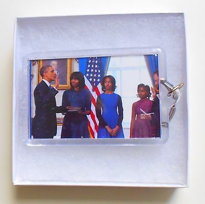 The Obama Family - 57th Inauguration Ceremony Keychain - in see thru Gift Box