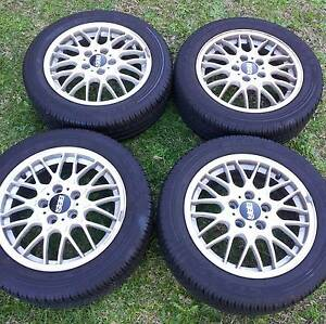 "16"" Genuine Forged BBS Wheels With Tyres - 5 Stud 5x114.3 Georges Hall Bankstown Area Preview"