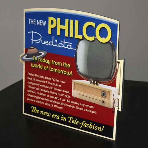 Philco Predicta TV Television Advertising Stand up Sign