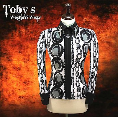 LARGE Showmanship Western Horsemanship Show Jacket Shirt Rodeo Queen Western