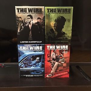 The Wire seasons 1,2,3,4 on dvd