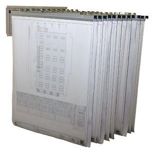 Adir 617 Blueprint, Plan and Map Pivot Wall Rack - Safco 5016 & 9309H