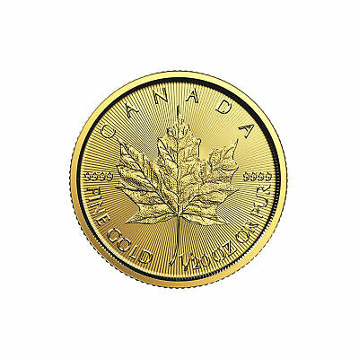 2018 $1 1/20oz Gold Canadian Maple Leaf .9999 BU