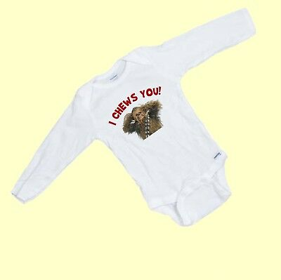 I Chews You  Funny Chewbacca   LONG SLEEVE  Onesie  (Chewbacca Onesies)