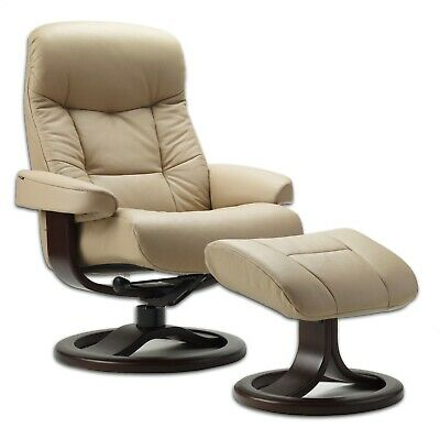 Fjords Muldal Large Recliner Chair - Sandel Tan Leather - Es