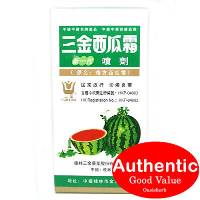 Sanjin Watermelon Frost Spray for Sore Throat - 3g (New!)