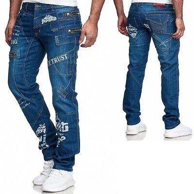 Herren Jeans Hose Denim Light-Blue KC-Black Washed Straight Cut Regular 8050 neu Denim Light Blue Jeans