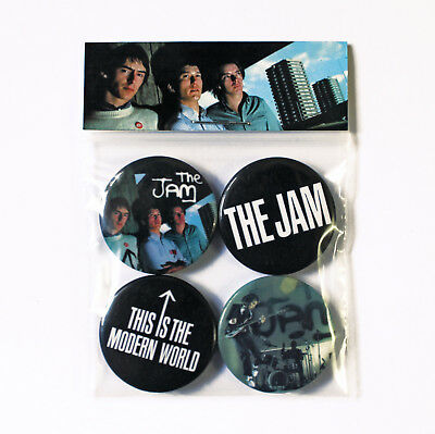 Jam Pack World Music - The Jam This Is The Modern World Badge Pack - 4 Quality Button Badges (Punk Mod)