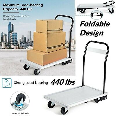 Hand Truck Folding Platform Aluminium Heavy Duty Dolly Foldable Cart Handtruck