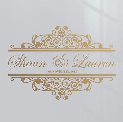 Premium Custom Name Date Wedding Dance Floor Event Decor Sticker Vinyl Decal