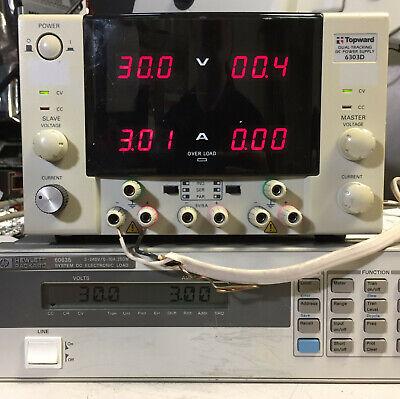 Topward 6303d Variable Dc Power Supply Dual 0-30v 0-3a 5v 5a - Load Tested
