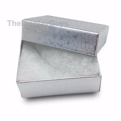 Us Seller12 Pcs 1 78x1 14x58 Silver Cotton Filled Jewelry Boxes