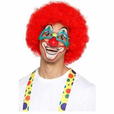 NEUHEIT Comedy Clown Brille mit rotem Nase Kostüm Verkleidung Zubehör