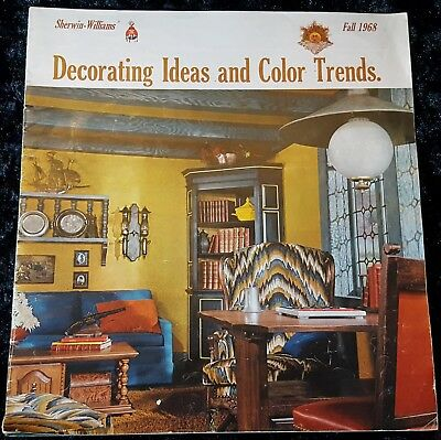 MCM Vtg FALL1968 DECORATING IDEAS & COLOR TRENDS Sherwin Williams BIG BOOKLET ](Fall Decorations Ideas)