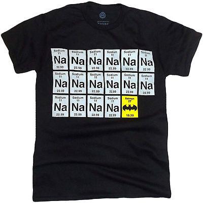 Batman Sodium Chart NA-NA-NA-NA Adult T-Shirt - Gotham City, DC Comics, (Na Na Na Na Batman T Shirt)