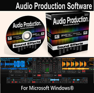Audio Production Software DVD DJ Music Mixing Editing Recording Audio Effects
