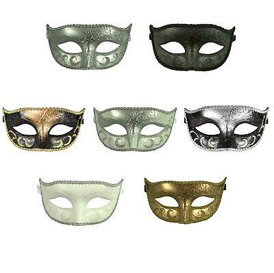 Basic Prom Masquerade Plastic Mask Venetian Halloween Dance Mardi Gras Costume (Plastic Mardi Gras Masks)