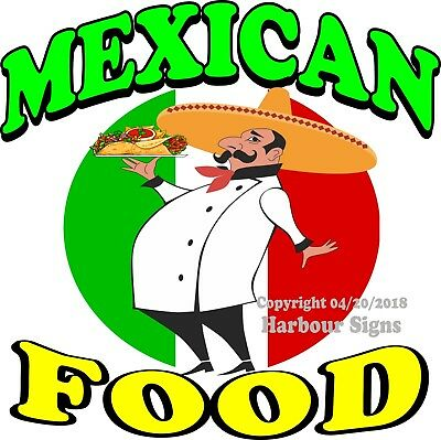 Mexican Food Decal Choose Your Size Concession Food Truck Vinyl Sign Sticker