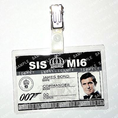 James Bond 007 ID Badge George Lazenby Cosplay Costume Fancy Dress Comic Con