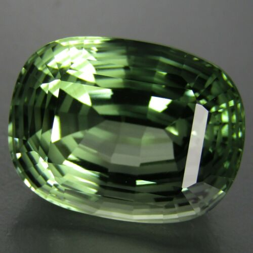 15.89Cts Mesmerzing Natural Green Amethyst (prasiolite) Cushion Magic Cut VDO