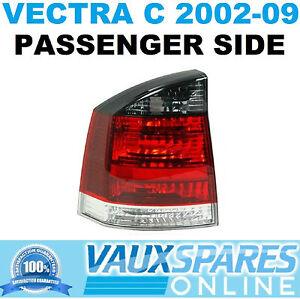 VECTRA C SMOKED REAR LIGHT BACK LENS LAMP CLUSTER PASSENGER NEAR SIDE CDTI SRI