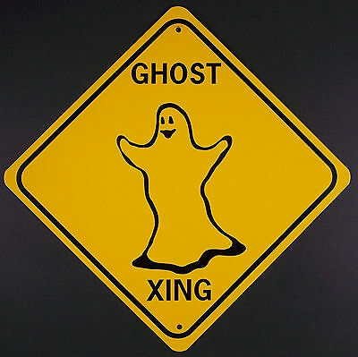 Won Halloween (GHOST XING Aluminum Sign Won't rust or)