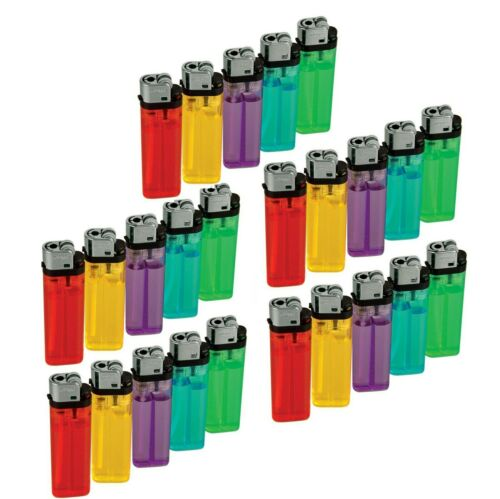 25 Pieces Cigarette Wholesale Disposable Lighters Pack with Display Stand
