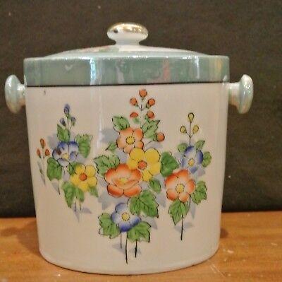 Vintage Hand Painted Japanese Lusterware Porcelain Ice Bucket
