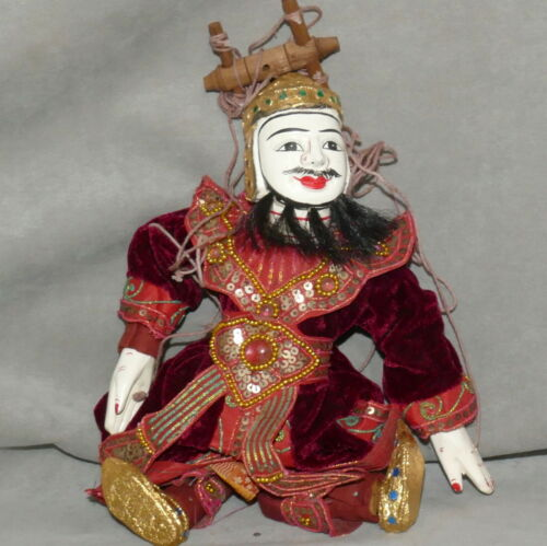 * MARIONETTE Puppet SIAM Traditional Costume #01 Burgundy Velvet USA SELLER