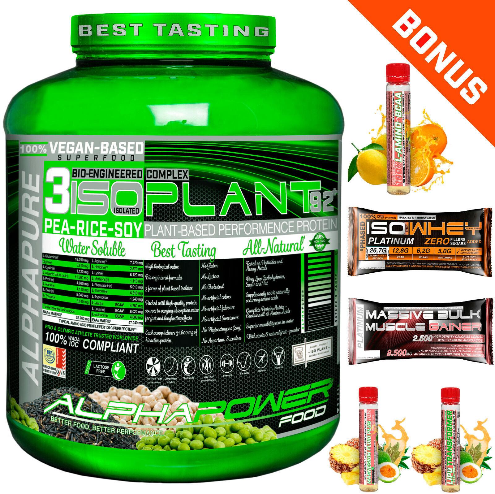 Pflanzliches Protein Isolat Soja Reis Erbse Pulver laktosefrei vegan Bonus