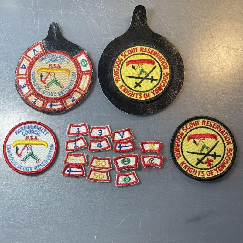 Camp Yawgoog Narragansett Council Boy Scout Patch Segment Rocker Lot Knights BSA