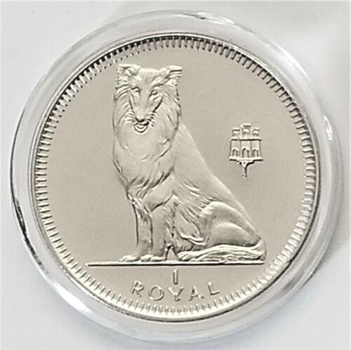 1995 Gibraltar Collie Dog - 1 Crown Coin