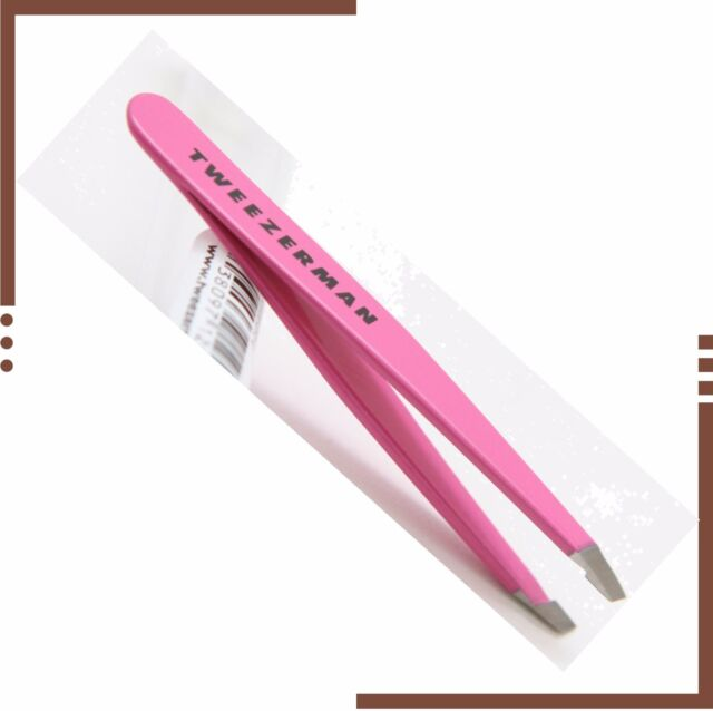 New Tweezerman Mini Slant Tweezer, Flamingo Pink 100% Authentic Aust Stockist